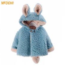 VFOCHI 2019 Baby Girl Coat Winter Children Clothing Thick Cute Wool Coats Toddler Girls Clothes Outerwear