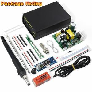 Image 5 - 2020 Electric Unit Digital Soldering Iron Station Temperature Controller Kits for HAKKO T12 Handle DIY kits LED vibration switch