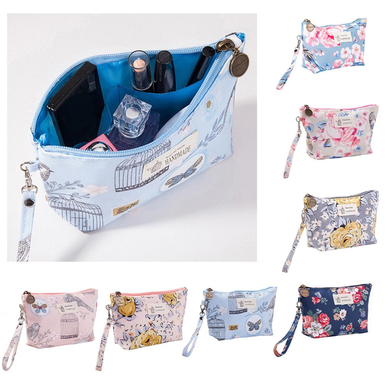 Women Cosmetic Bag Printing Cosmetic Storage Bag Printing Ladies Portable Clutch Waterproof Travel Wash Bag SWWQ   - title=