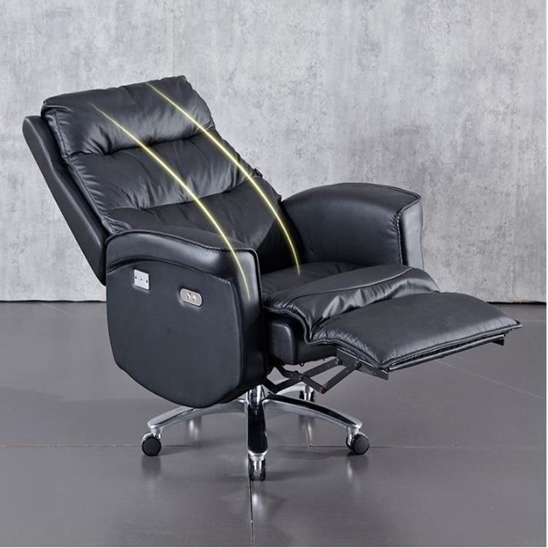 High-grade Boss Genuine Leather Business Office Chair Function Swivel Chair Comfortable Reclining Conference Dinning Chairs