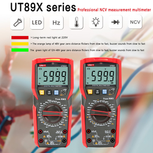 Image 2 - UNI T UT89XD Digital Multimeter Ammeter Voltmeter Capacitance Voltage Current Intellignet Tester LED Display NCV Measurement