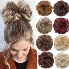 Snoilite mulheres coque chignon updo hairpieces synthetic cabelo elastic cabelo scrunchies acessórios para o cabelo Rabo de Cavalo Extensões para as mulheres