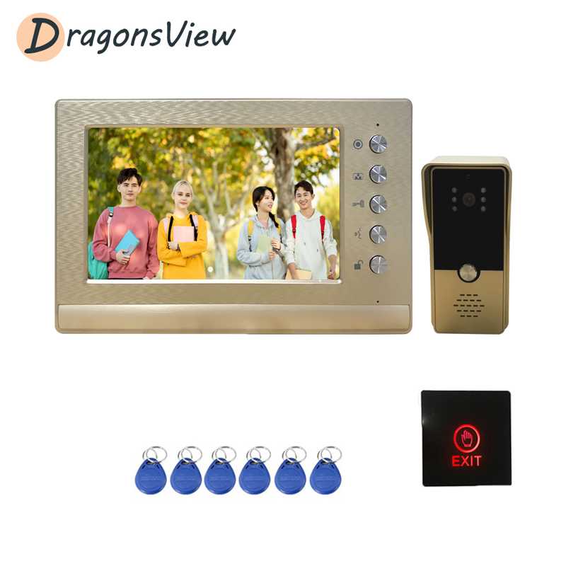 Dragonsview Video Intercom Entry System Kit Wired Video Door Phone For Home Villa Building Apartment