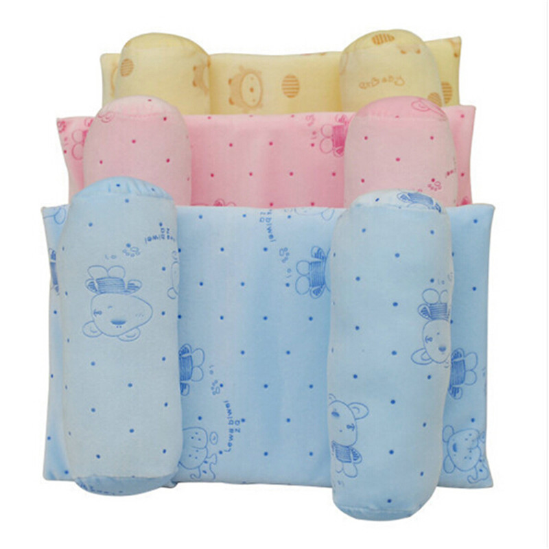 New Arrival Soft Sleeping Pillow 3 Choices Cute Head Support Cushion For Newborn Baby 100% Cotton Protective Shaping Pillow