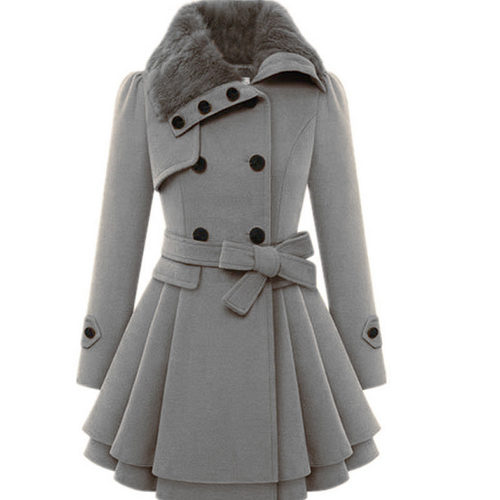 Feitong Coat Down-Jacket Asymmetrical Warm Women Outwear Windbreaker Long Mujer Button title=