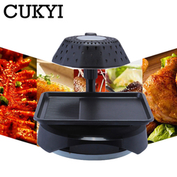 CUKYI household Electric Grills & Electric Griddles Lotus leaf shape frying pan 3D infrared BBQ machine