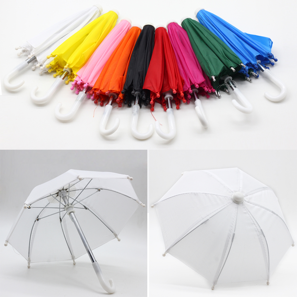 New Style <font><b>BJD</b></font> <font><b>1/3</b></font> 1/4 Mini Umbrella Rain Gear for 18 Inch Baby Doll American Girl <font><b>Clothes</b></font> Accessories Birthday Gift for Children image