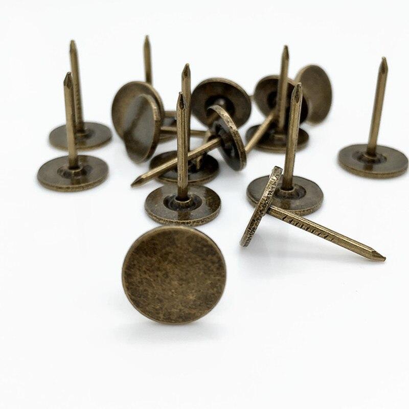 100 шт металлические кнопки, декоративные Thumbtacks, античный штырь, гвоздь, круглая форма, нажимные штыри для большого пальца, настенные Пробковые доски для офиса