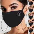 A-Z Mode strass Maske Für Frauen Gesicht mascarias para la boca bling Gesicht mund schild maske Mouthmask party dekoration