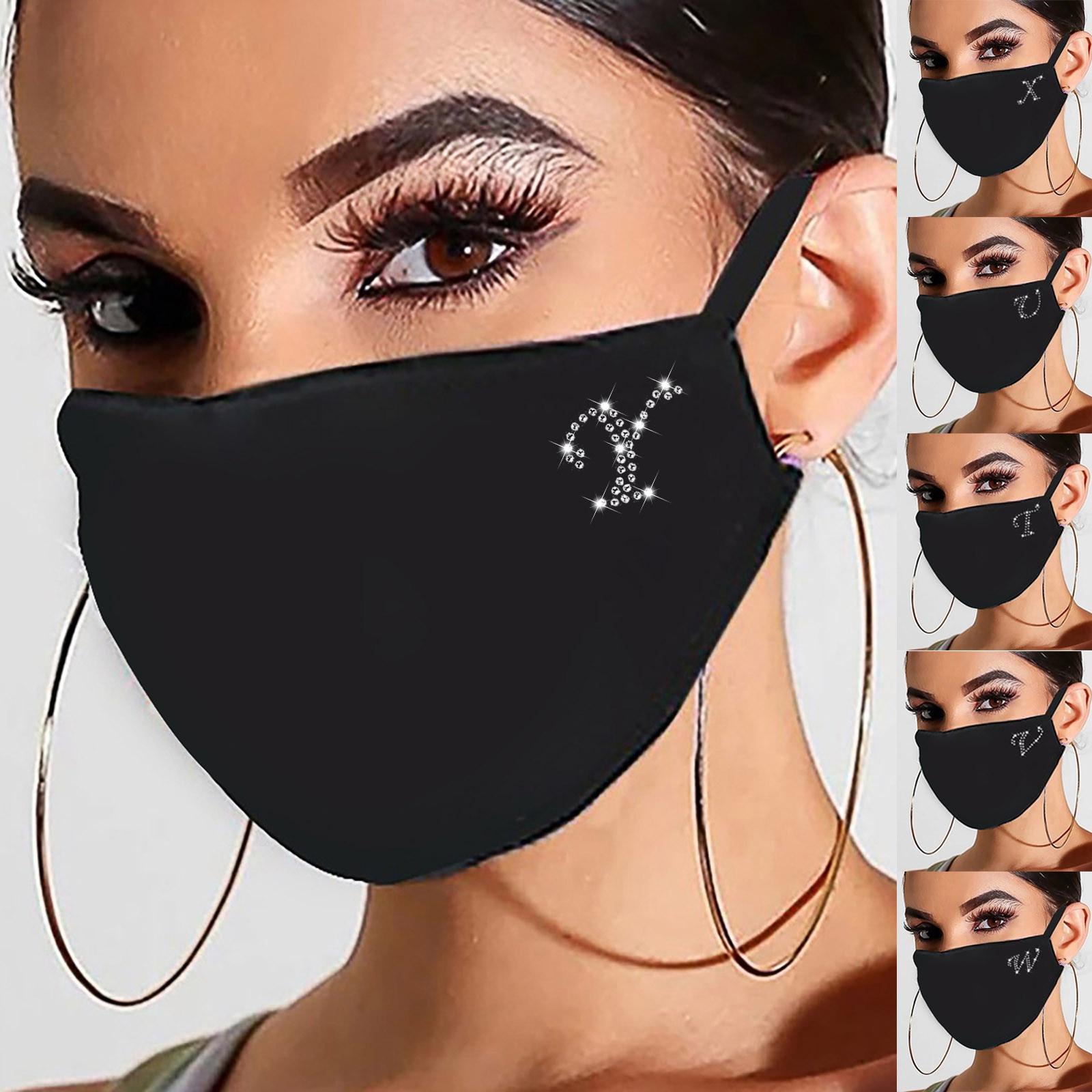 A-Z moda strass maschera per le donne faccia mascarias para la boca bling viso bocca scudo maschera boccaglio decorazione del partito