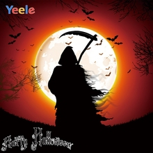 Yeele Halloween Photocall Horror Grim Reaper Practice Photography Backdrop Personalized Photographic Background For Photo Studio
