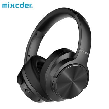 Mixcder E9 Active Noise Cancelling Wireless Headphones Over-ear Bluetooth Headset with HiFi Deep Bass 3d-Stereo Audio Jack