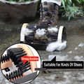 Boot brush Indoor and OutdoorCleaning Shoe brushrs All Weather Industrial Shoe Cleaner & Scraper Brush Outdoor Boot Brush D25