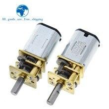 Mini Micro motorreductor de Metal con engranaje, Motor de CC TZT DC 6V 30RPM 200RPM N20, GA12-N20