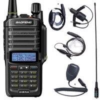 Baofeng-walkie-talkie UV-9R Plus, resistente al agua, IP68, 8800mAh, portátil, 10km de largo alcance, UV-9R, 10W, potente