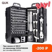 Cacciavite di precisione QUK 135 In 1 Set Mini dadi magnetici dadi Phillips Hex Torx Kit di strumenti di riparazione domestica multifunzione