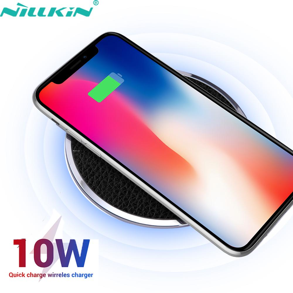 NILLKIN 10W Wireless Charger for iPhone 11 Xs Max X 8 8PLUS Qi Fast Wireless Charging Pad For for Samsung S8 S8+ S10 S9 S20/20+