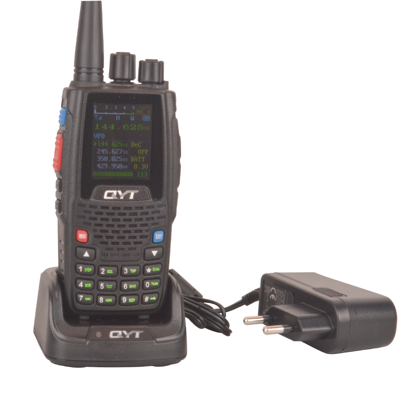 Quad Band Quad Standby TX&RX Walkie Talkie Scrambler QYT KT-8R Portable FM VOX Color Screen Two Way Radio