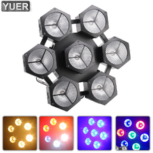 NEW LED 7X40W COB RGB 4IN1 Stage Light Retro Lamp DMX Voice Vontrol DJ Disco Wedding Party Nightclub Concerts Indoor 6/9/21/30CH
