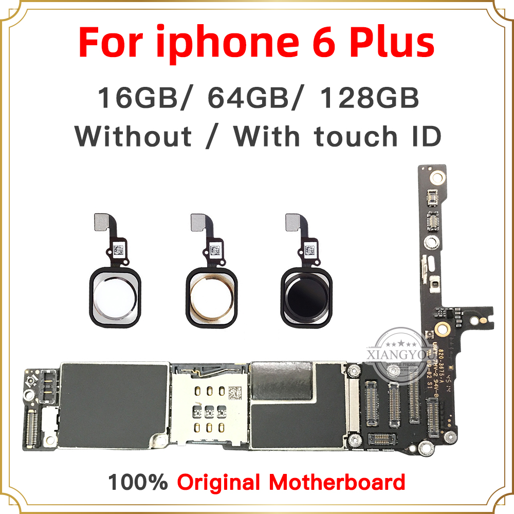 16GB 64GB 128GB für <font><b>iPhone</b></font> <font><b>6</b></font> Plus original motherboard 5,5 zoll mit <font><b>fingerprint</b></font> mit Touch ID entsperren logic board iOS image