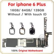 16GB 64GB 128GB pour iPhone 6 Plus carte mère originale 5.5 pouces avec empreinte digitale avec identification tactile déverrouiller la carte mère iOS