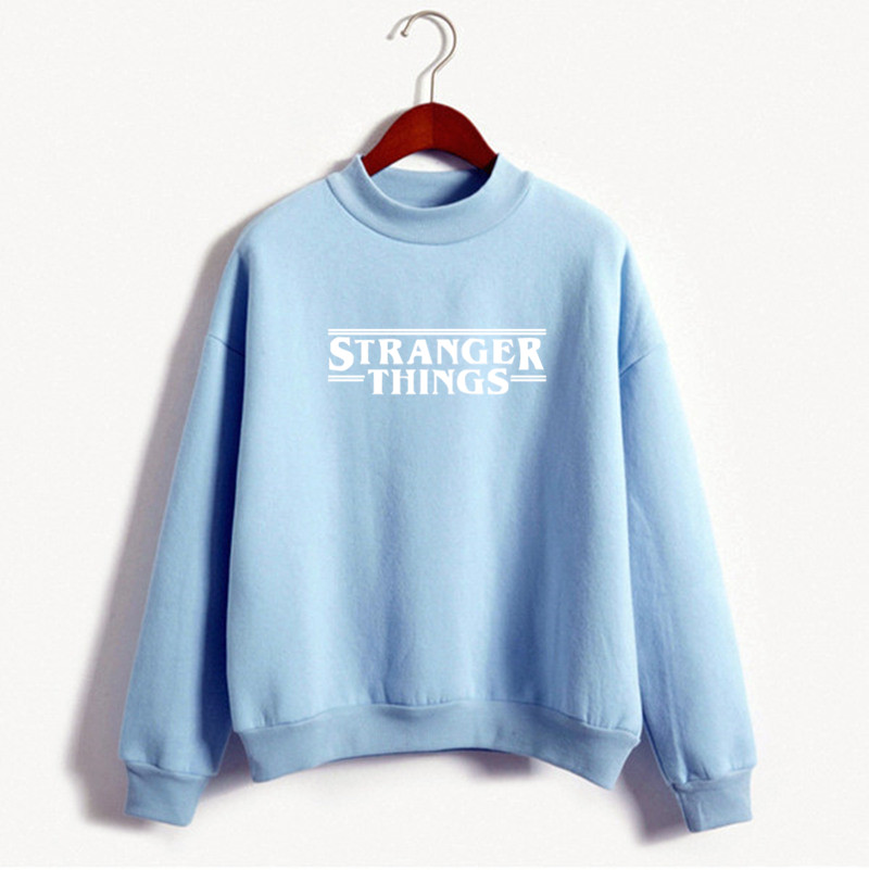 2019 New Fashion Women's Sweatshirt Printed Letter STRANGER THINGS Casual Plus Size Women Clothes Moletom Pullovers