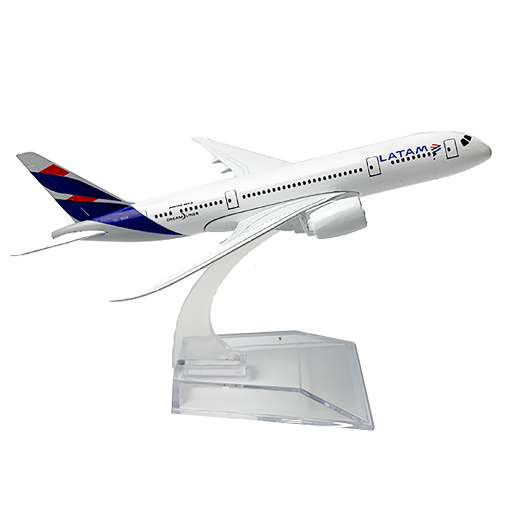 1/400 Scale Alloy Aircraft Boeing 787 LATAM 14cm Alloy Plane B787 Model Toys Children Kids Gift For Collection