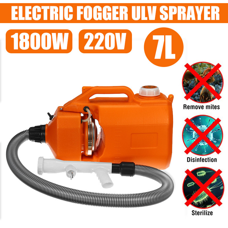 7L 220V Portable Electric ULV Sprayer Fogger Machine Cold Mosquito Fogging Machine Ultra Low Capacity Disinfection First Aid Kit