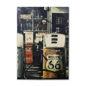 Classic Retro Gas Station Wall Stickers Posters And Prints Paper Living Bedroom Bar Coffee Room Poster Aesthetic Decoration NEW image