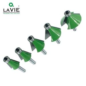 Image 4 - LAVIE 5pcs 8mm 샹크 모따기 라우터 비트 11.25 15 22.5 30 45도 밀링 커터 Woodworking 기계 MC02111