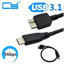 USB 3.1 סוג C כדי USB 3.0 מיקרו B כבל מחבר עבור MAC ספר WINDOWS PC USB3.1 USB3.0 30cm 0.3m 100cm 1.0m