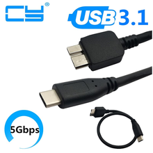 USB 3.1 ประเภท C ถึง USB 3.0 สาย Micro B สำหรับ MAC BOOK WINDOWS PC USB3.1 USB3.0 30cm 0.3 M 100 ซม.1.0 m