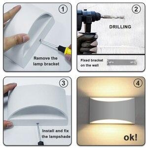 Image 5 - Wandkandelaars Verlichtingsarmaturen Lampen Moderne Led Verlichting 7W Up En Down Indoor Gips Voor Woonkamer Slaapkamer Hal