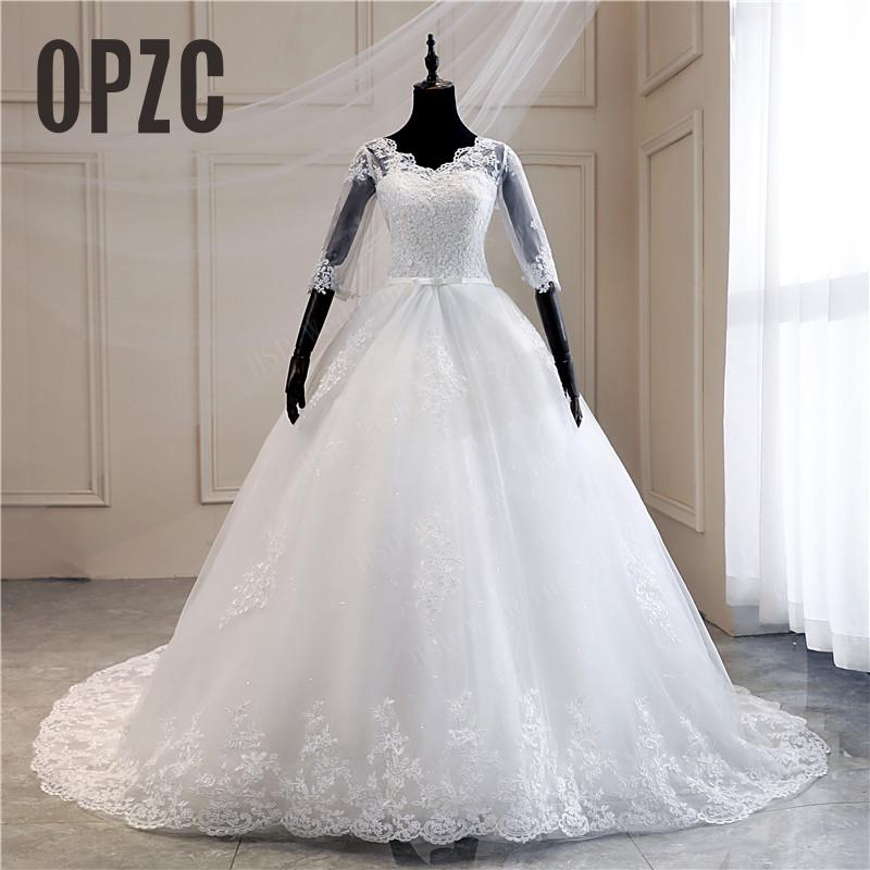 Real Photo Lace Embroidered Organza Tulle Sweetheart Off White 