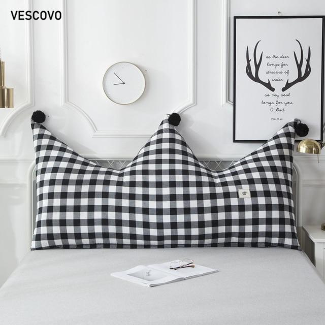 VESCOVO children room twin queen long pillow soft cushion big backrest pillow 180cm