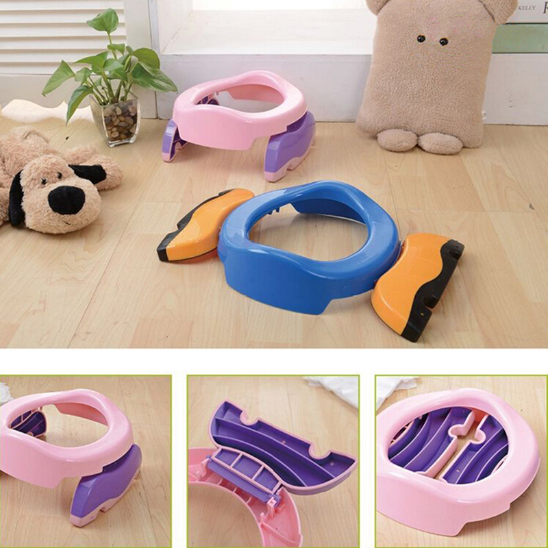Portable Baby Outdoor Travel Pots Boy Girl Foldaway Toilet Basin Potty Car Travel Baby Folding Potty Kids Training Toilet Seat