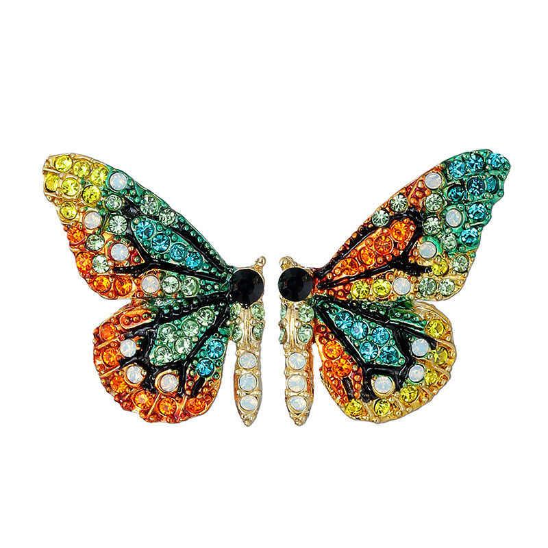 Vente chaude mode le papillon goutte boucles d'oreilles pour les femmes mode bijoux conte de fées doux les boucles d'oreilles papillon