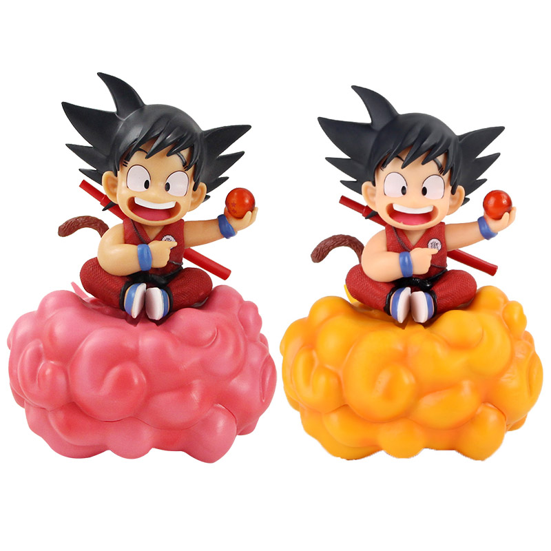 17 Cm Anime Dragon Ball Z Son Goku Salto Cloud Kleine Kid Kind Goku Childhood Pvc Beeldje Model Pop Collectible figuur Speelgoed