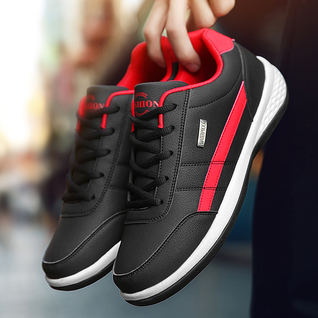 Leather Men Shoes Sneakers Trend Casual Shoe Italian Breathable Leisure Male Sneakers Non-slip Footwear Men Vulcanized Shoes 3