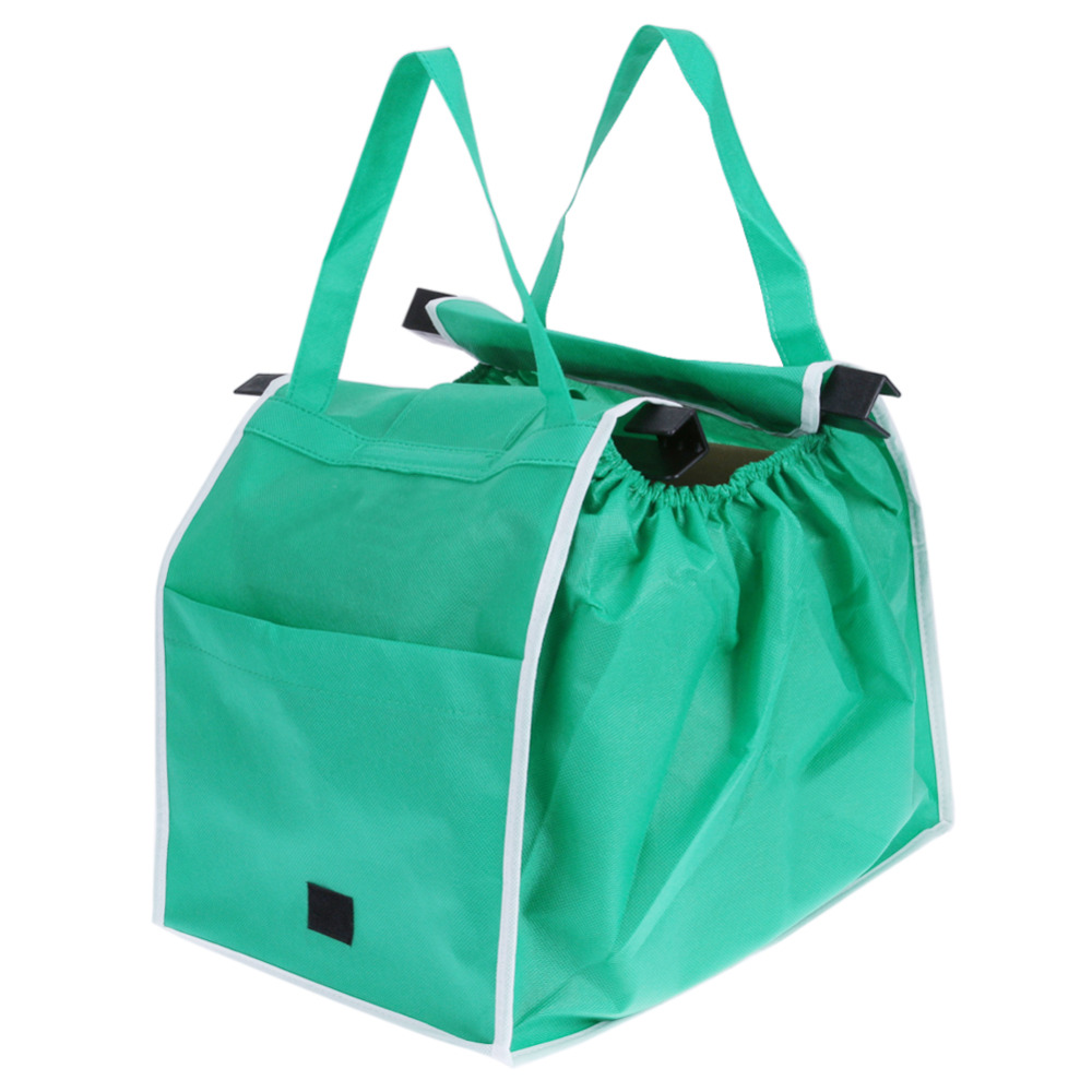 1 Pc Shopping Bag Foldable Eco-friendly Large Trolley Supermarket Large Capacity Reusable Tote Bag Women Reusable Handbag