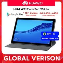 HUAWEI MediaPad M5 lite 10,1-дюймовый планшетный ПК 3 ГБ 32 ГБ MicroSD Kirin 659 Восьмиядерный LTE 7500 мАч Android 8,0