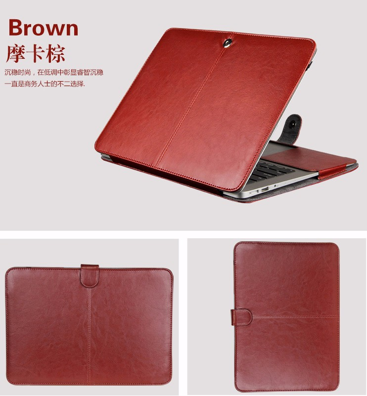 Dropproof PU Leather Laptop Case for <font><b>Apple</b></font> <font><b>Macbook</b></font> Air <font><b>Pro</b></font> Retina 11 12 13 <font><b>15</b></font> 16 Inchs Fashion Shockproof <font><b>Cover</b></font> Bag A2141 A2159 image