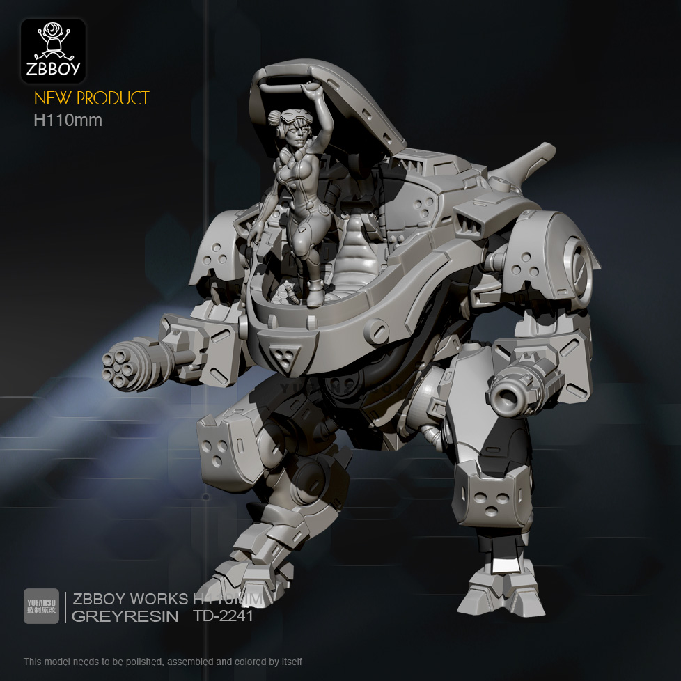 H110mm Resin Figure Kits Robot Model Self-assembled TD-2241