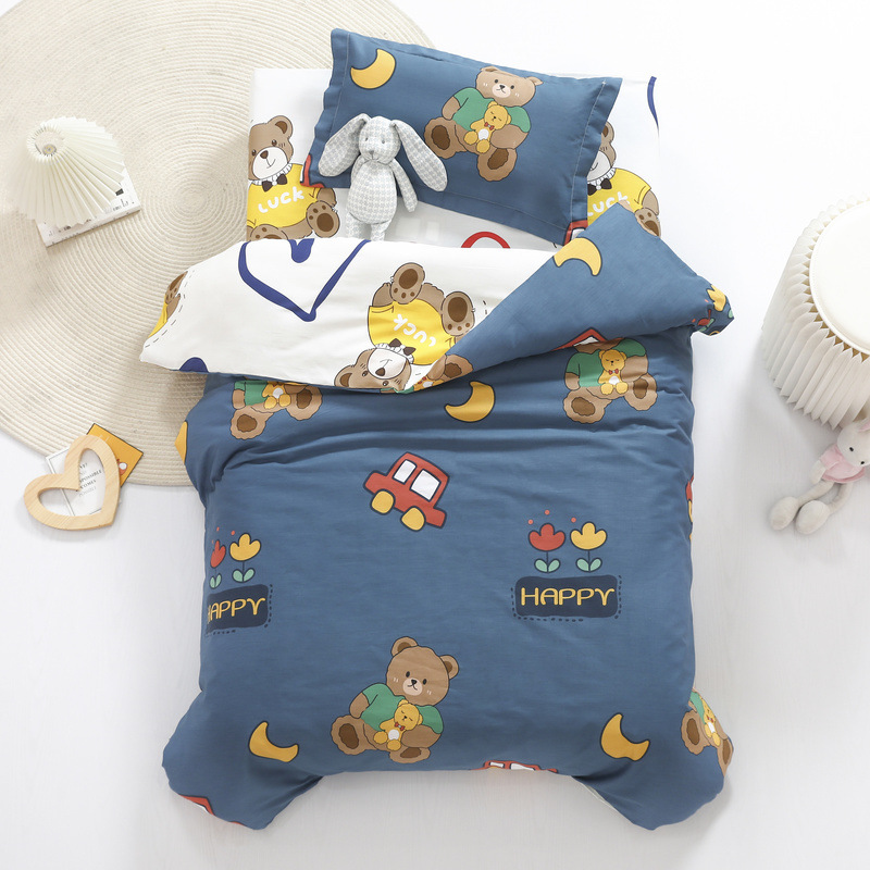 3 Pcs Baby Bedding Sets Duvet Covers+Bed Sheet+pillow Covers Cotton Polyester Material Kindergarten Bedding Set Room Decoration