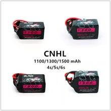 Zangão de corrida fpv da bateria 1100 v 1300 v 1550 v do lipo de 6s 4S mah da série preta 14.8/22.2/mah do hobbyline de china de cnhl