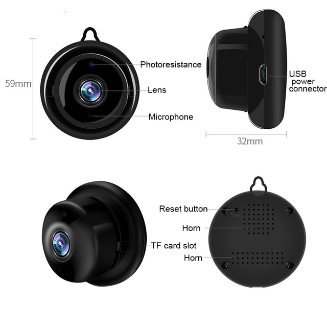 Mini Wireless IP Camera 720P Outdoor Indoor Dome Camera Smart Home Security Night Vision Baby Monitor Camera CCTV Monitor