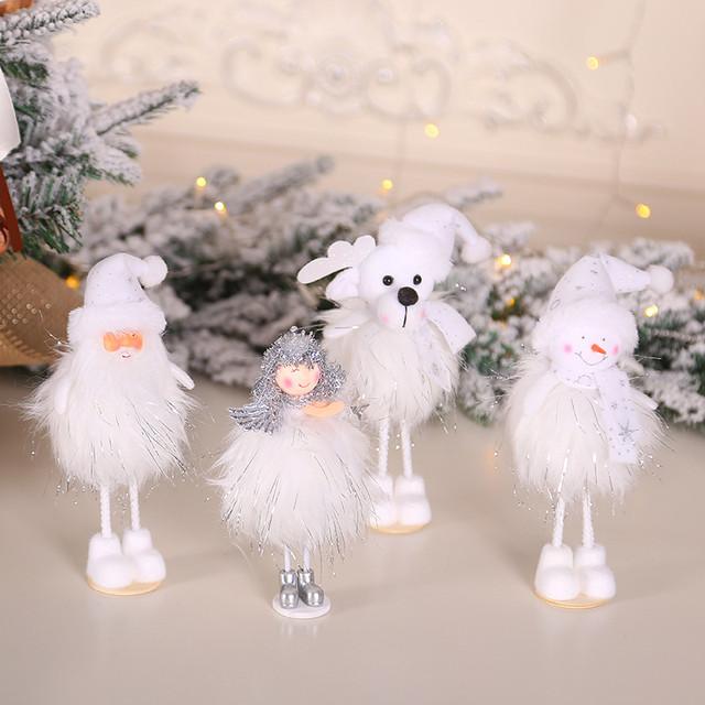 New Year 2020 Merry Christmas Ornaments Christmas Angel Elf White Christmas Decorations for Tree Toy Xmas Decor Swiateczne Natal 20
