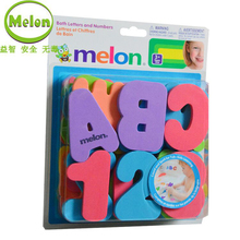 MELON 36 Pcs of Alphanumeric Bath Stickers Puzzle Early Education Toys Bathing Water Children's Toys Math Toys Montessori Toys цены