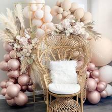 76 stücke DIY Chrom Rose Gold RETRO Haut Ballon Arch Garland Hochzeit Birthyday Baby Shower Party Hintergrund Decor Globos Kinder spielzeug