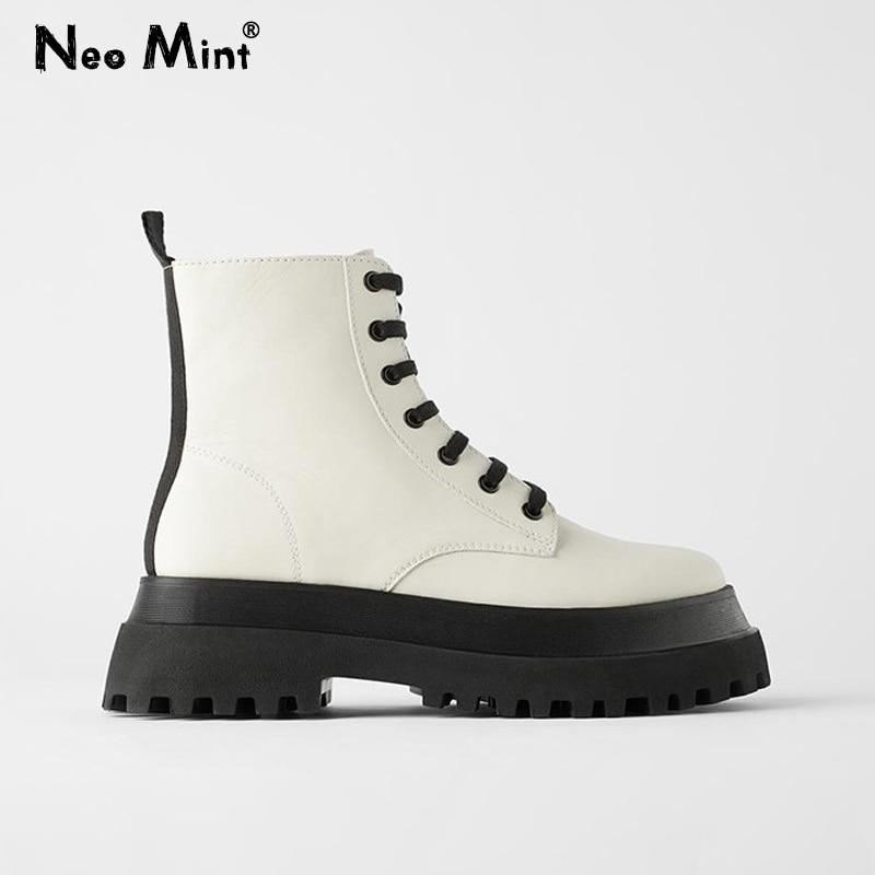 Брендовые дизайнерские женские белые ботинки на платформе; Красивые женские ботильоны на массивном каблуке с боковой молнией; Стильная женская обувь; 2020|Полусапожки|   | АлиЭкспресс - Женская обувь